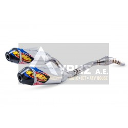 FMF FACTORY 4.1 RCT + MEGABOMB DUAL SYSTEM ALUMINUM & STAINLESS STEEL NATURAL ΕΞΑΤΜΙΣΗ ΓΙΑ HONDA CRF 250 R 14-17, 041531