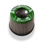 BLOWSION TAU CETI 2,5΄΄ TALL PRO-SERIES POWER FILTER ROUND CONE TORNADO SERIES, ANODIZED GREEN, 53-4272-GRN, 01-02-018