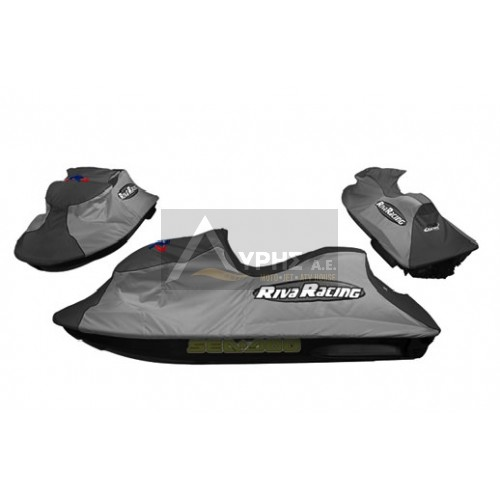 RIVA RACING SEA DOO COVER RXP-X/RXP, GREY/SILVER WITH RIVA LOGO, RS5-CVR-RXP