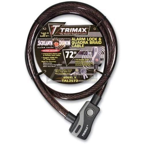 TRIMAX ALARM LOCK AND QUADRA-BRAID CABLE 25mm X 182cm, TAL2572