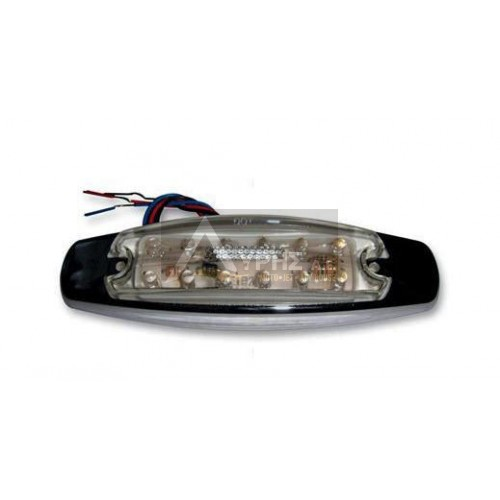BLUHM ENTERPRISES LED LIGHT CLEAR WITH RED LEDS,TLEDR6